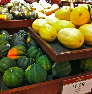 Squash comes in many varieties, keeps well, and is a traditional winter vegetable grown throughout the world. Photo by Deb Nystrom, Wikimedia Commons.