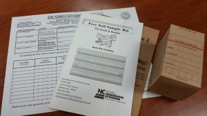 An example soil sampling kit.